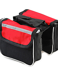 TANLU 1680D Polyester and Mesh Red Cycling Frame Bag