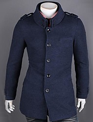 Fasion Épaulette col droit Trench Coat Men