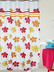 Colorful Classic Floral Shower Curtain