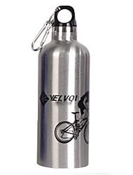 Bouteille vide Nyelvqi 500ML double en acier inoxydable argenté Bike eau