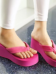 Women's Wedge Heel Flip Flops Slippers  Shoes(More Colors)