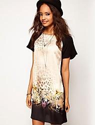 vestido de leopardo de la manera de las mujeres southstore 8033