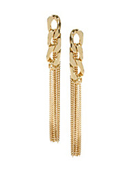 JoJo&Lin Gold Tassel Chain Earrings