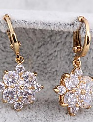 Women's New Arrival Gold Plated Fashion Elegant Flowers and Plants Earrings