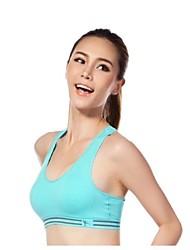 sutiãs dos esportes de nylon das mulheres ao ar livre