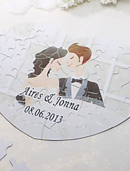 Personalized Heart Shaped Jigsaw Puzzle - Sweet love