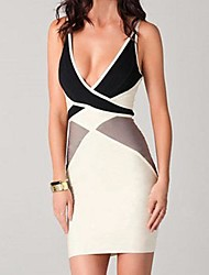 Moon Sunday Women's Backless Buckle Sexy Bodycon Dress