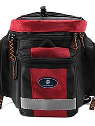 rongruihr panno impermeabile indossabile mountain bike sacchetto impermeabile rosso e nero 1608d tronco con striscia riflettente