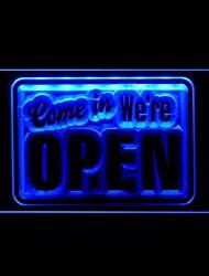 Приходите в Мы Открыть Реклама светодиодные Вход