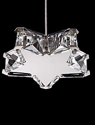 5W Chandelier ,  Modern/Contemporary Chrome Feature for Crystal / LED / Mini Style Metal Living Room