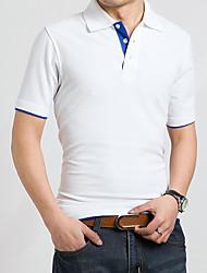 RAK Men's Fashion Contrast Color Sugar Color POLO T-shirt
