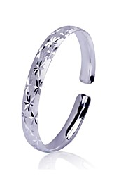 Women's Fashion Gypsophila Design Jewelry Silver Plating Cuffs Bangles