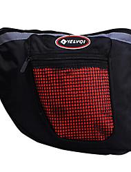 nylon imperméable yelvqi sacoche de vélo multifonction noir et rouge avec des bandes réfléchissantes