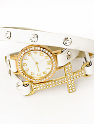 Dare U Women's Diamonded Wrapped chain Watch