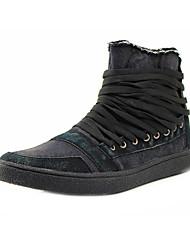 Scarpe da uomo - Sneakers alla moda - Tempo libero / Casual - Di corda - Nero / Verde