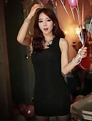 sexy une épaule solide de couleur de robe moulante des femmes SSMN