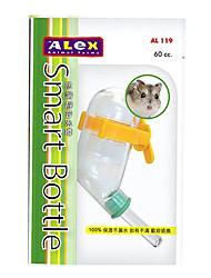 Garrafa de água à prova de vazamento Mute 60ml plástico com Otário para Hamsters