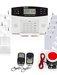 LCD Display Wired & Wireless GSM Alarm System with SMS and Auto Dial 106 ZONE