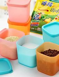 6pcs Mini Plastic Flavoring Boxes(Random Color)