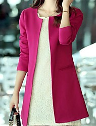Women's Elegant Design Slim Long Design Trench Coat