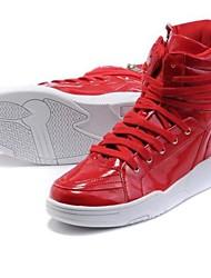 Men's Patent Leather Flat Zipper Hip-hop Dance Sneakers Shoes (More Colors)