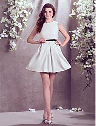 Vestido de Noiva - Marfim Justo Transparente Longuete Jacquard Tamanhos Grandes