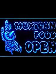 Mexican Food Ouvrir Promotion Vert Bleu Rouge Blanc Orange Violet Jaune Publicité LED Connexion