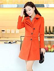Women's Medium And Long Tweed Trench Coat