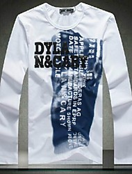 Men's Letters To Spell The Skin Long Sleeved T-Shirt