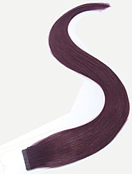 20Inch Seamless Silky Straight Tape Hair Extensions 50g Per 20pcs in Color 99J