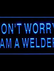 keine Werbung LED-Licht-Zeichen Sorgen