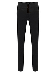 Women's Black Skinny Pants , Vintage/Bodycon/Casual/Party/Work