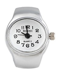 Simple  Oval  Metal Quartz Analog Ring Watch(1Pc)
