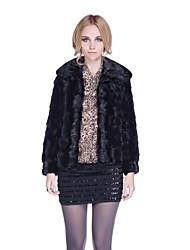 Zijindiao® Women's Genuine Spell Mink Fur Coat