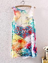 Camiseta (Poliéster) Estampado - Opaca - Longo