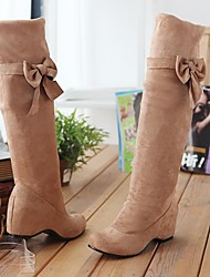 Suede Women's Wedge Heel Over The Knee  Riding Boots  (More Colors)