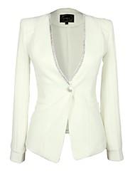 Women's Tailored Collar European Style Casual Blazer