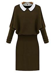 vestido de punto nueva moda de otoño de las mujeres