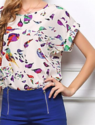 Women's Short Sleeve Print Blouse