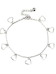 Heart Shape Hollow Anklet Bracelet  (1Pc)