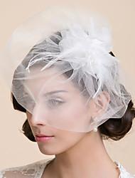 Tier One Blush voile de mariage avec la plume (plus de couleurs)