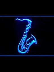 Saxophones Music Advertising LED Light Sign