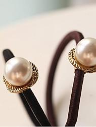 Una perla metálicos giratorios Rubber Band lazos del pelo