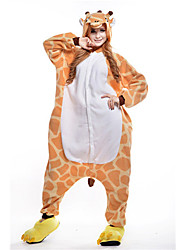 kigurumi Pyjamas New Cosplay® Girafe Collant/Combinaison Fête / Célébration Pyjamas Animale Halloween Orange Mosaïque Polaire Kigurumi