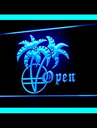 Palm Tree Open Advertising LED Light Sign