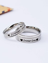 Korean Style Popular Forever Love Titanium Steel Couple Rings Promis rings for couples