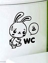 Adorável etiqueta Coelho WC