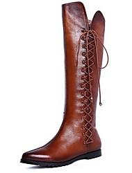 TIANLI кожаных женщин плоские пятки с Гор моды загрузки обуви (больше цвета)