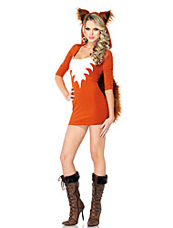 Costume Halloween da impertinente piccola volpe arancione Terylene Donne