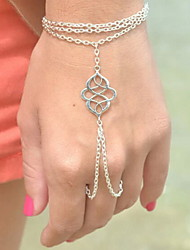 Feminino Pulseiras com Pendentes Pulseiras Anéis Liga Original Moda Estilo Boêmio Jóias Prata Bronze Jóias 1peça